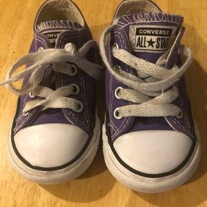 Converse All stars purple sneakers toddler size 5